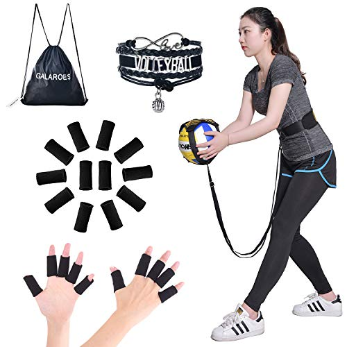 Volleyball Training Equipment Aid - Practice Your Serving, Spiking, Setting, Arm Strength, Great Solo Serve Spike Trainer for Beginners Pro - Presents for Daughter, Volleyball Players, Sister, Friend