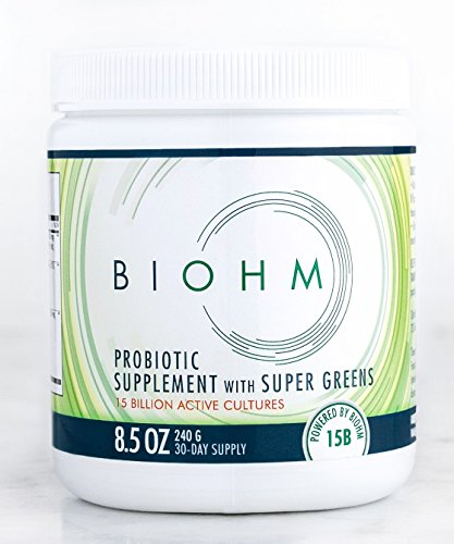 BIOHM Super Greens: 15 Percent Off 2 or More Mix Match. HSA Eligible. Great Tasting Superfood Powder with 31 Organic Plant Extracts Plus Probiotics Prebiotics. Easy To Drink. 30 Day Supply.