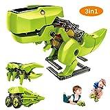 Achort 3 en 1 Juguetes educativos de Robot Solar, Kit de Robot de Dinosaurio con...