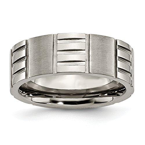 Alianza de boda de titanio con muescas de 8 mm