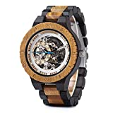 Reloj mecánico cazado Bobinadora de madera automática - Reloj de pulsera de lujo