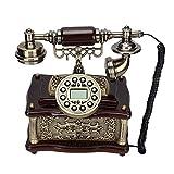 Sorandy Teléfono Fijo Retro, Teléfonos Antiguos Vintage para Decoración De Escritorio En Casa, Teléfonos Domésticos con Dial Giratorio Funcional Y Campana De Metal Clásica, para Decoración De Oficina