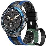Smartwatch Relojes Inteligentes Hombre, Reloj Inteligente con Pulsómetro, Cronómetros, Calorías, Monitor de Sueño, Impermeable IP68 Reloj Deportivo para Android iOS (Azul)