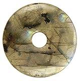 Lebensquelle Plus Labradorita Piedra preciosa Donut Ø 40 mm Colgante