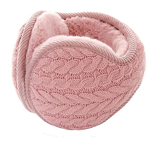 Warm Earmuffs - Winter Ear Muffs Classic Fleece Earmuffs Solid Colour Soft Plush Winter Outdoor Snowboarding Ear Warmers Ear Protector Men Women Foldable (Pink)
