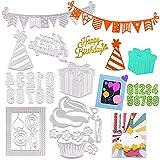 Kit 7 Troqueles Scrapbooking Feliz Cumpleaños Troqueles de Corte Metal Plantillas de Corte para Cumpleaños Happy...