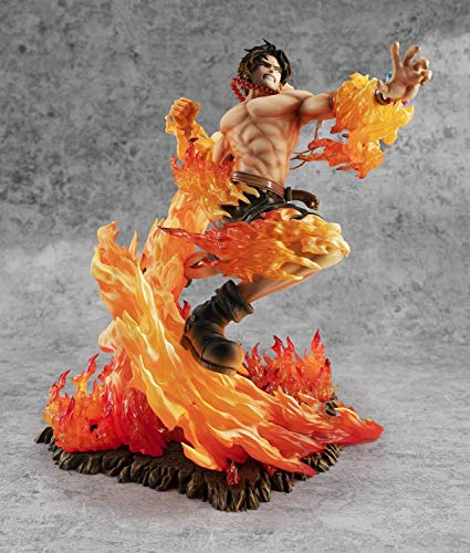 Mopoq Anime One Piece Portgas D Ace MAX 15th Anniversary Special Edition Ver. GK Statue PVC Action Figure Collectible Model Toys Gift 25cm