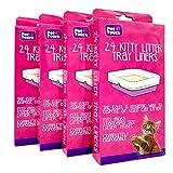 Pet Touch Lot de 4 boîtes de 96 sacs de litière pour chat - Compatibles avec la plupart des bacs à litière pour chat - Jetables et hygiéniques