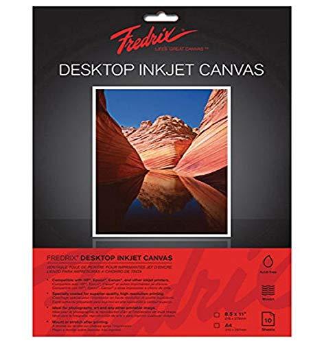 Tara Materials Fredrix Inkjet Canvas 8.5x11 10/Pack
