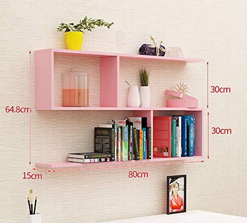 YLCJ Wandrek in S-vorm hangplank wandplank hangrek wandplank hangrek wandplank bloemenvaas bloemenrek voor keuken slaapkamer (kleur: roze)