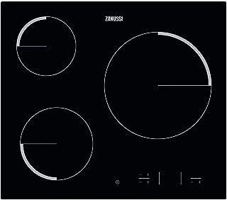 comprar comparacion Zanussi ZEV6330FBA Placa vitrocerámica, Biselada, 3 zonas de cocción, Paellero, Panel de control táctil independiente, Blo...