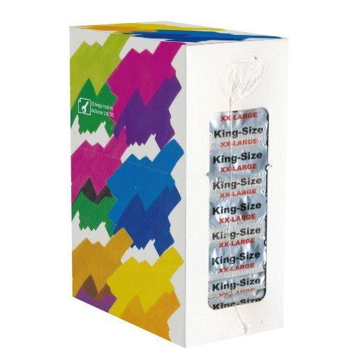 World\'s Best Kondome: King Size XX-Large - komfortabel, größere Kondome mit 56mm Breite und mit geformtem Ende, XL, Kondome aus Dänemark - 1 x 100 Stück (Maxipack)