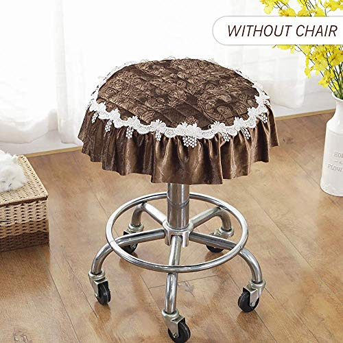 Ronde barkruk, antislip, fluweel, zachte comfortabele stoelhoes voor keuken, bruiloft, hotel, kruk, kussen, 1 stuk, paars, diameter 40 cm (16 inch)