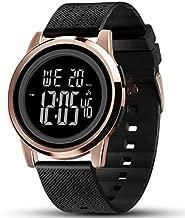 YUINK Mens Watch Ultra-Thin Digital Sports Watch Waterproof Stainless Steel Fashion Wrist Watch for Men Women(Rose Gold)