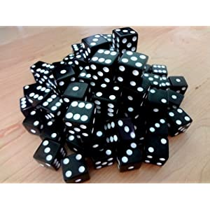 Discount Learning Supplies 100 Black Dice – 16MM