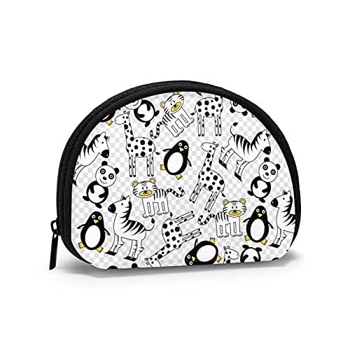 Tiger Penguin Travel Shell Cosméticos Bolsas de almacenamiento portátiles para mujeres y niñas pequeñas monedero monedero monedero monedero