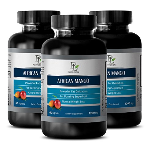 African Mango Diet Capsules - African Mango Extract - Helps Alleviate Constipation - 3 Bottles 180 Capsules