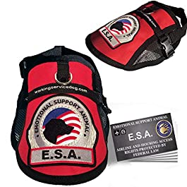 Premium Emotional Support Dog ESA Mesh Vest (XXS – XXL) – Includes 5 Federal Law ESA Handout Cards