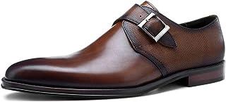 Rui Landed Oxford pour Hommes Chaussures Formelles Slip on Style Cuir véritable Moine Sangle Bouche Peu Profonde Bout carr...