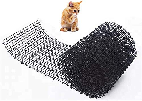 JIANGAA Cat Scat Mat con Spikes Humane Pet Deterrent Mat Anti-Cats Network Digging Stopper Stopper Pickle Strip Pianta Pianta Protettiva Rete per Il Giardino all'aperto Farm Fence (200cm x 28 cm)