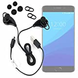 DURAGADGET Auriculares inalámbricos en Color Negro para Smartphone UMIDIGI C Note
