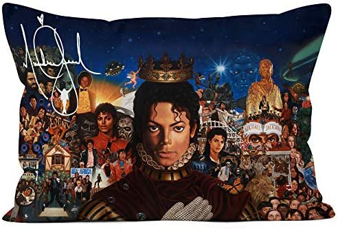 Art Portrait Custom Michael Jackson Pillowcase Throw Pillow Cover 20x30 Zippered Pillow Case product image