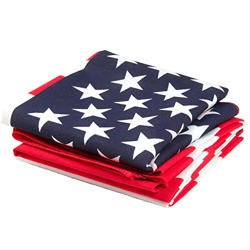American Flag Bandana 3-Pack - Made in USA for 70 Years - Sold by Vets – Sewn Edges