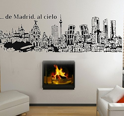 Vinilo Decorativo De Madrid al cielo. (186x60cm. aprox) color negro.