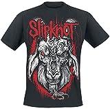 Slipknot Rotting Goat Homme T-Shirt Manches Courtes Noir 5XL, 100% Coton, Regular/Coupe Standard