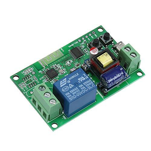 OWSOO Interruttore WiFi DC5V / AC85-250V Interruttore Senza Fili Casa Intelligente Modulo Relè Moduli di Automazione APP Telecomando Ore Compatibile con Amazon Alexa Google Home