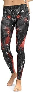 Man&Y の女性のレギンス3Dプリントハロウィーンの精神スケルトンの悪魔セクシーな神秘的なレギンスヨガパンツのタイツレギンス女性スポーツヨガレギンス (Color : Black, Size : S)