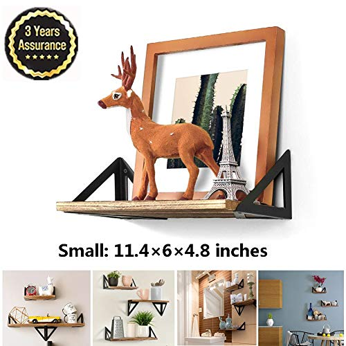 M-TOP Zwevende planken Badkamer Rustieke, Massief Houten Wandplanken Hardware, Wandgemonteerde Opbergplank voor fotolijsten, Collectibles, Decoratieve artikelen, Trophy Display