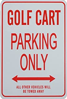 GOLF CART Parking - Miniature Fun Parking Sign - Great Gift for the Golf enthusiast