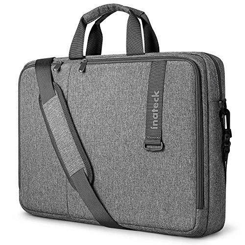 Inateck 15,6 pollici Borse e Messenger per PC portatili Custodia per laptop da 15,6 pollici con protezione a 360°, borsa a tracolla multifunzionale antiurto di grande capacità, custodia portatile