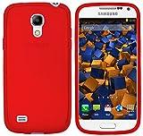 mumbi - Custodia in Pelle, per Smartphone LG S4 Mini, Trasparente Rosso Rosso