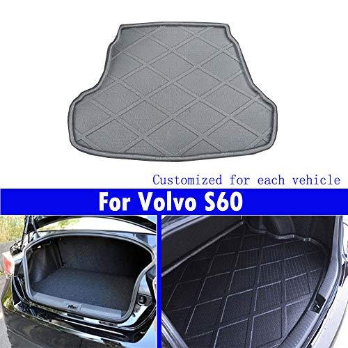Le nouveau noir mat tapis de coffre de voiture de queue de tapis de coffre Pour S60 2010 2011 2012 2013 2014 2015 2016 2017 2018 2019 2020 2021 2022