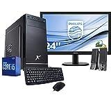 Pc desktop completo intel i5 10400 4.30ghz,Ram 8Gb Ddr4,Ssd 256gb,Lettore masterizzatore Dvd,Windows 10 Pro,Wi Fi,Hdmi,Monitor 24' Full Hd