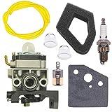NIMTEK Carburetor w/Air Filter Spark Plug Fuel Filter Fits Honda GX35 GX35NT HHT35 HHT35S String Trimmer Carb