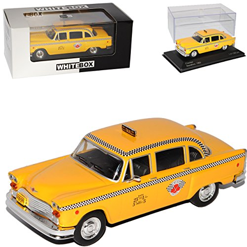 Whitebox Checker Yellow Cab Taxi NYC New York Limousine Gelb 1/43 Modell Auto