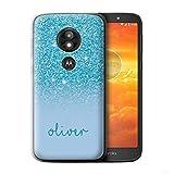 Personnalisé Coque pour Motorola Moto E5 Play Go Effet Paillettes Coutume Turquoise Désign...