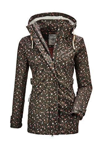 G.I.G.A. DX Damen Cushy WMN Jckt A Casual Softshell Jacke Mit Abzippbarer Kapuze, grünanthrazit, 36