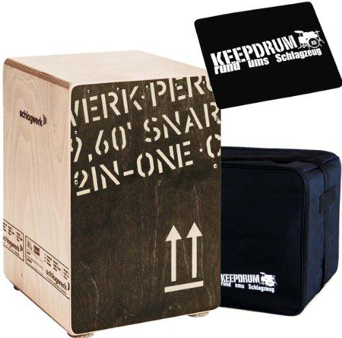 Schlagwerk CP 403 BLK 2in1 Cajon + keepdrum Gig Bag Tasche + Cajon Sitzpad CP-01