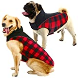 MIGOHI Dog Plaid Jacket Reversible Waterproof Reflective Coat Puppy Cloth for Cold Weather Pet Vest for Small Medium Large Dog