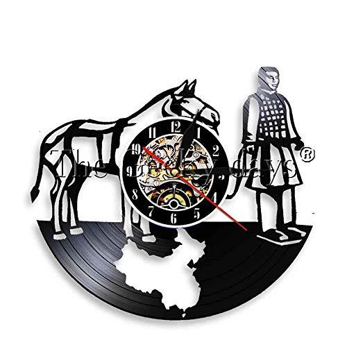 60 LED Kronleuchter 1 Stück Qin Dynasty War Horse Warrior Antikes LED Nachtlicht Tourim Souvenir Soldat und Pferd Terrakotta Schallplatte Uhr Weißes Kaninchen Tischlampe