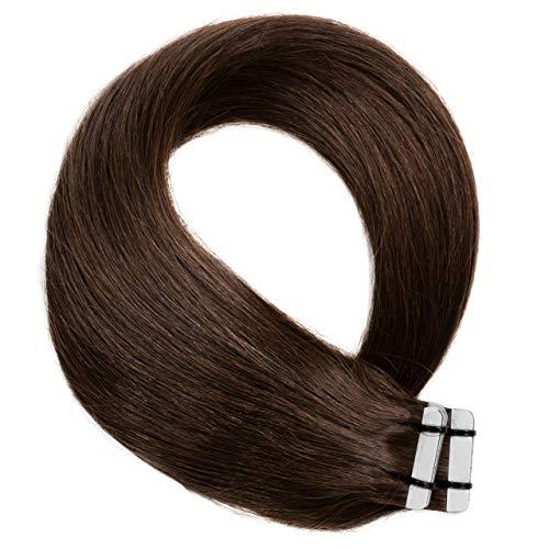 Just Beautiful Hair 20 x 2.5 g Extensions bande adhésives #4 brun 60cm
