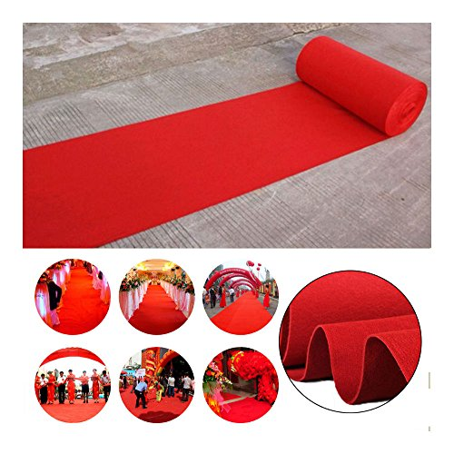 16ft Celebrity Red Carpet Garden Wedding Aisle VIP Party Floor Runner Decor USA