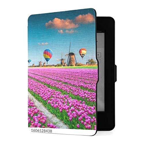 Kindle Paperwhite 1 2 3 Hülle, malerische Tulpenfelder Bunte...