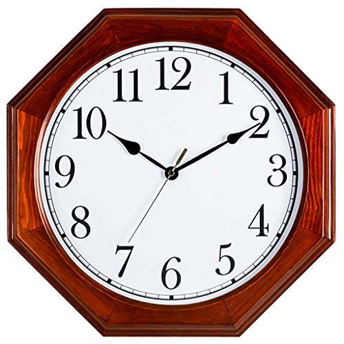 FFCVTDXIA Reloj de Estilo Chino Sala de Estar Grande Cuarzo Retro Madera sólido Mudo Pared decoración casera/b zhihao (Color : B)