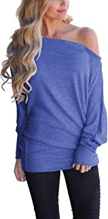 INFITTY Women's Off Shoulder Loose Pullover Sweater...