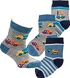 "socksPur SOCKS PUR Baby-Söckchen ""Bagger"" 3er PACK (5112: 74-80, Mehrfarbig)"